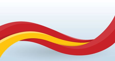 Spain National flag. Waving unusual shape. Stock Illustratie