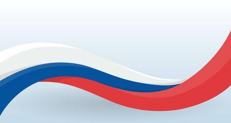 Russia Waving National flag. Modern unusual shape. Vektorgrafik