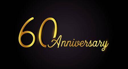 60 anniversary concept.