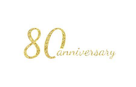 80 anniversary concept.