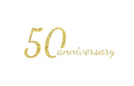 50 anniversary concept.