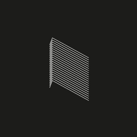 Isometric Geometric Font. Line blend style letter K. Typography design.