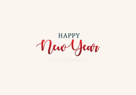 Happy New Year elegant lettering for New Year Event decoration. Vector illustration. Çizim