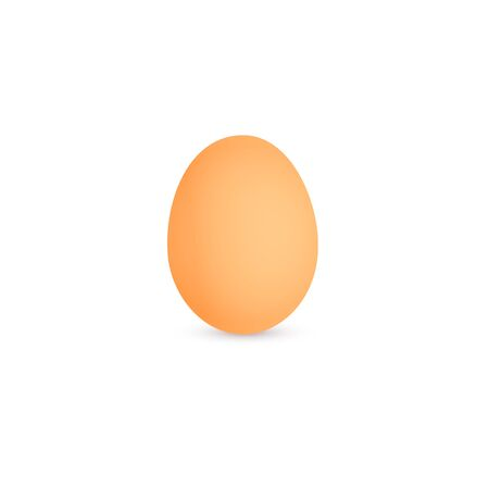 Egg icon, brown hen egg, eggsshell, isolated vector illustration on white background. Фото со стока - 129197257