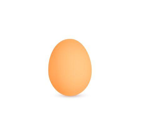 Egg icon, brown hen egg, eggsshell, isolated vector illustration on white background. Ilustração