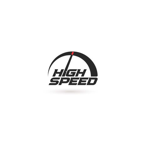 High speed abstract speedometer icon.
