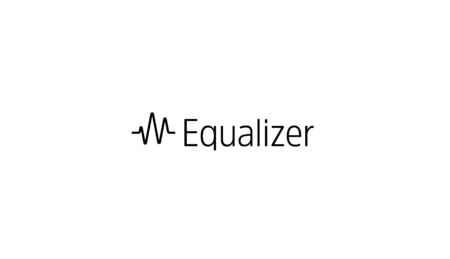 Equalizer icon. Sound wave or radio wave, heart impulse simple logo template. Modern emblem idea. Concept design for art, music, medical. Isolated vector illustration on blank background.