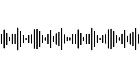 Sound wave or radio wave vector illustration.