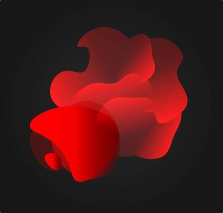 Abstract Muleta, red silk fabric for bullfights, Spanish corrida, bullfighting background design. Abstract fire shape, wildfires vector illustration. Vettoriali