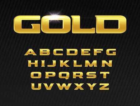 Gold letters set. Premium typeset, golden luxury vector latin alphabet. Fonts for events, promotions, logos, banner, monogram and poster. Typography design.