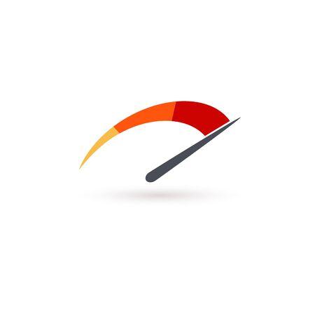 Modèle d'icône de compteur de vitesse automatique ou de compteur de vitesse d'entreprise. Illustration vectorielle isolée. Vecteurs