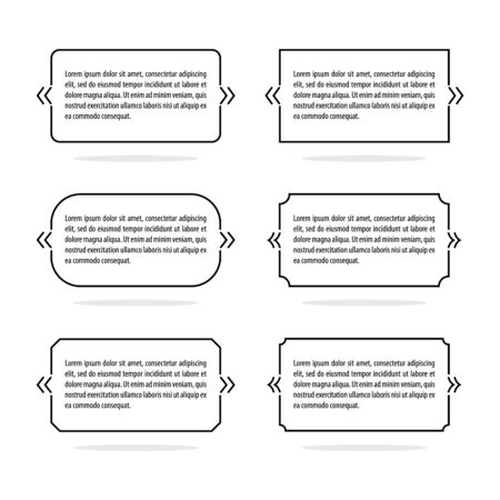 Forms for quotes and other text. Vector frames template.