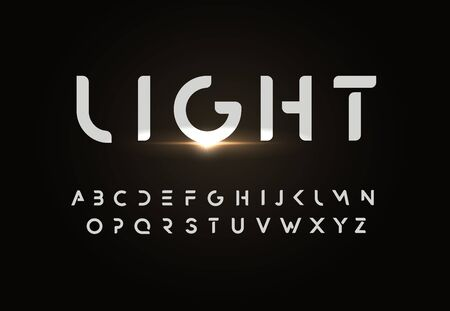 Modern vector font design in simple style