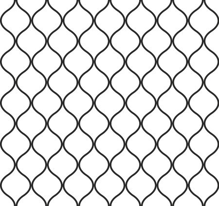 Vector abstract pattern. Grid seamless vector texture. Ornamental tiles and wallpaper on the wall. Unusual ornament