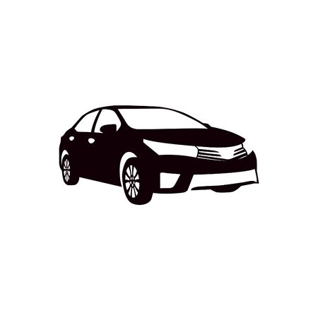 Car silhouette for vinyl cutting. Vector template illustration. Vektorové ilustrace