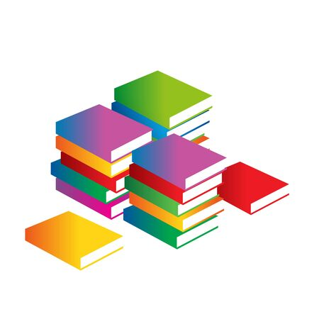 Minimalistic book cover. Vector logo. Educational Portal. The symbol of knowledge and wisdom teachings. Learning sign.