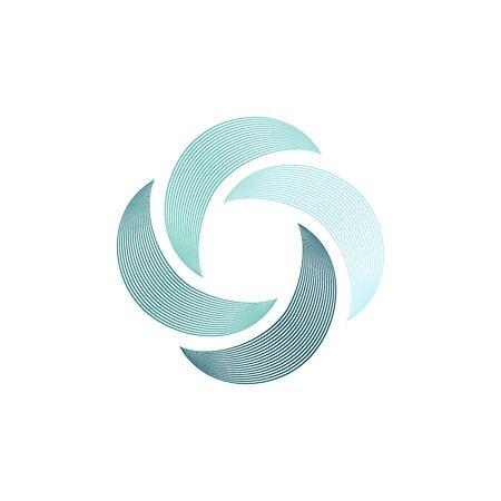 Abstract swirl icon, Hurricane logo, boomerang isolated symbol, vector illustration.