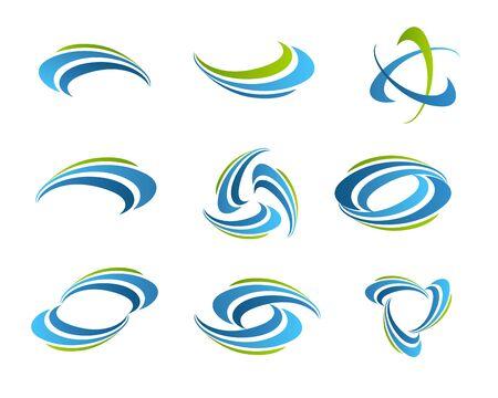 Wave vector symbol. Business Icon. Vetores