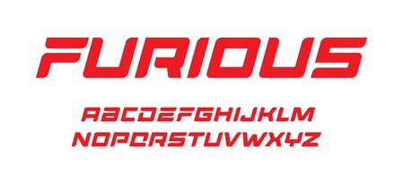 Furious letters set dynamic bold font elegant italic typeset vector typography design.