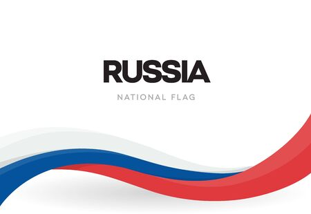 Russian Federation national waving flag banner. Russia unity day anniversary poster. Independence day patriotic ribbon vector illustration. Public holiday symbol.
