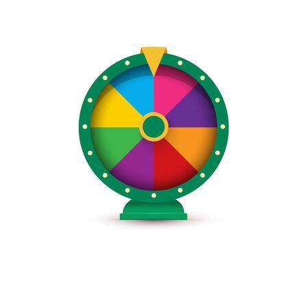Fortune wheel, Gambling logo concept.