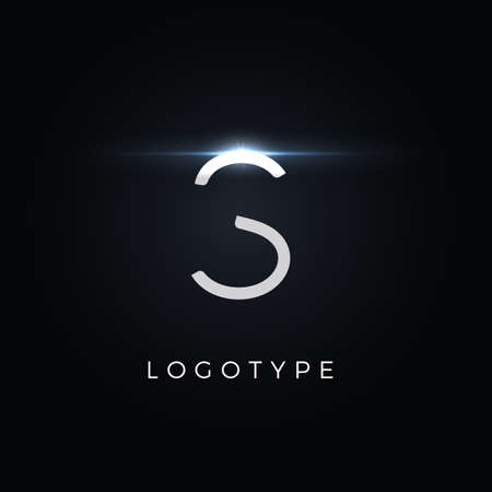 Futurism style letter S. Minimalist type for modern futuristic logo, elegant cyber tech monogram, digital device and hud graphic. Minimal style symbol, vector design