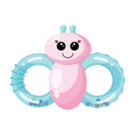 Nursery baby rattles. Vector illustration. Ilustración de vector