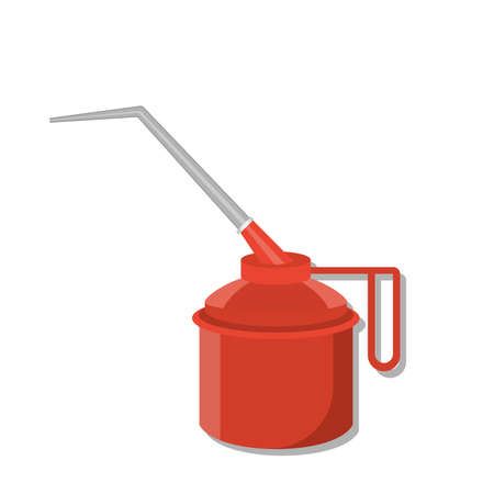 Red oilcan for car treatment. vector illustration