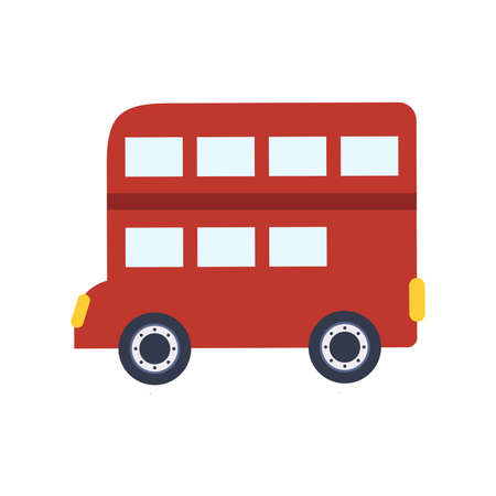 Red double-decker bus, vector illustration Stock Illustratie