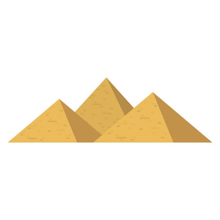 The great pyramids and sphinx of Giza, Egypt. vector illustration Stock Illustratie