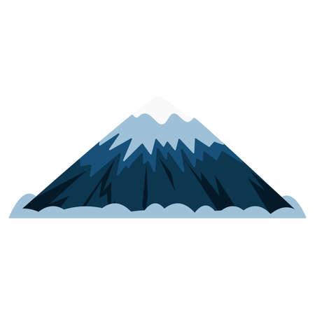 Snowy mountains. flat vector illustration