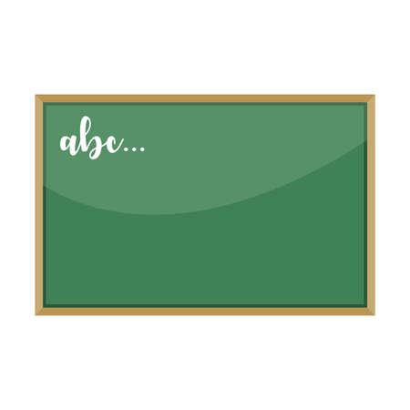 Cartoon green school chalkboard, vector illustration