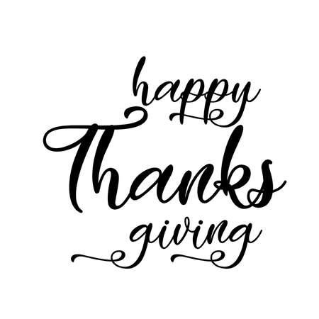Happy Thanksgiving lettering. Vector illustration. Ilustração