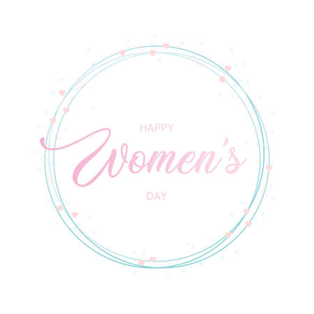Happy Women's day greeting poster card. vector illustration Vector Illustration