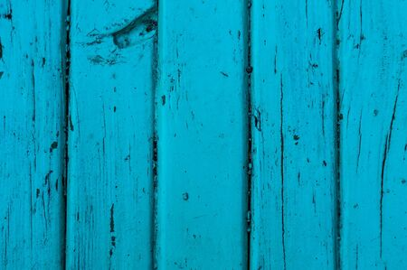 Old Blue wooden boards. Vertical view. Close-up