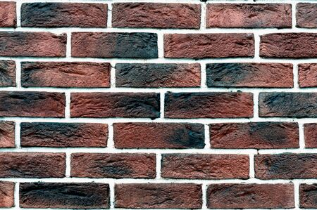 Red grunge brick wall, abstract background texture with old dirty and vintage style pattern.