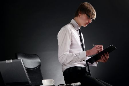 business man young and attractiv Stock Photo - 6471224
