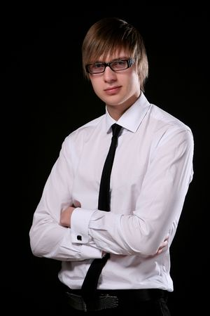 business man young and attractiv Stock Photo - 6471235