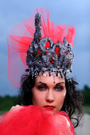 elegent beautiful woman with crown photo
