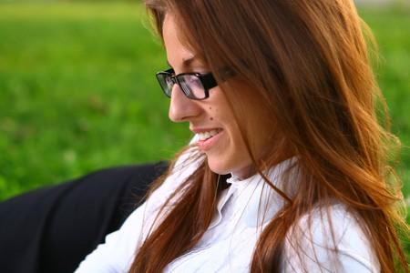 a beautiful young woman studing Stock Photo - 9236250
