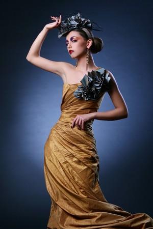 beautiful young girl in stylish image photo