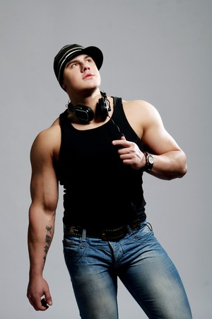 music figure: young and beautiful muscles man