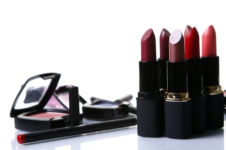some cosmetics parts on the table photo