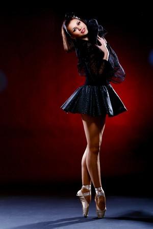 ballet: Danza de ballet de danza hermosa bailarina