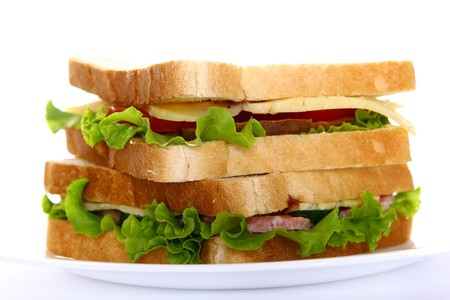 fresh sandvich with vegetables and tomatoe Stock Photo - 7850771