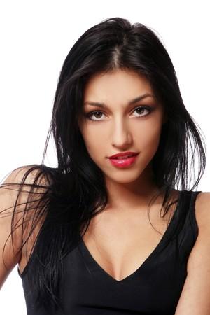 young beautiful brunet sexy girl photo