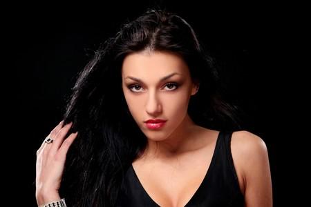 young beautiful brunet sexy girl Stock Photo - 8863954