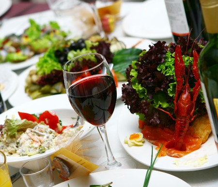 fresh and tasty food on the table Stock Photo - 7838368