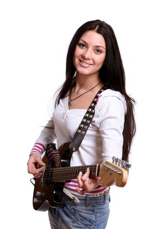 hair band: beautiful young and attractive woman Stock Photo