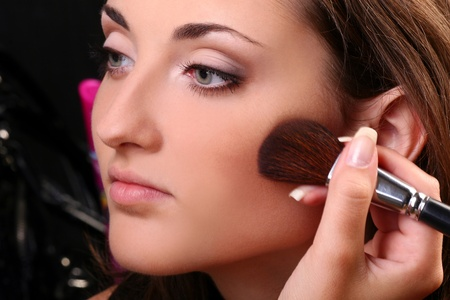 a fashion woman face with beautiful make up Stock Photo - 8436413